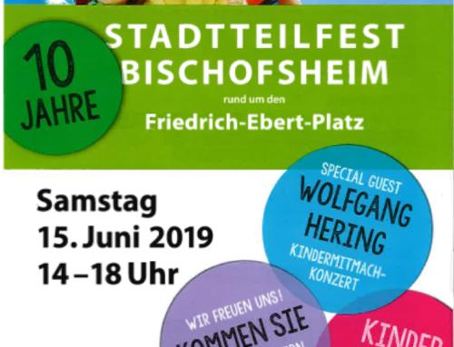 Musikschule Mobil beim Stadtteilfest in Bischofsheim